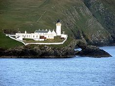 Bressay Lighthouse, Shetland Islands, Scotland. At 11 square miles (28 km2), it is the fifth largest island in Shetland. The island is made up of old red sandstone with some basaltic intrusions. Bressay was quarried extensively for building materials, used all over Shetland, especially in nearby Lerwick.