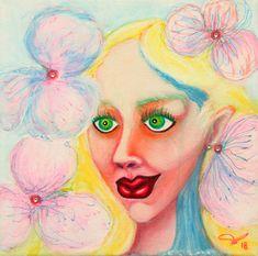 Fairy Paintings, Female Portrait, Gel Pens, Saatchi Art, Disney Characters, Fictional Characters, Waterfall, Original Paintings, Watercolor