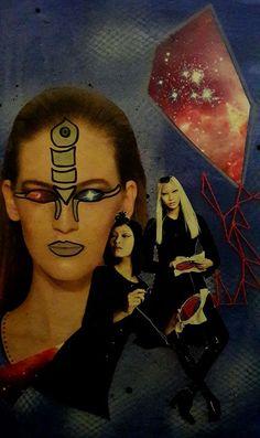 Sticken fürs Universum - Collage - Bea Dietz Mona Lisa, Collage, Artwork, Universe, Sketches, Painting Art, Collages, Work Of Art, Auguste Rodin Artwork