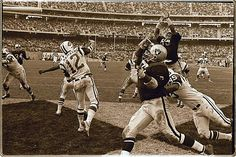 """The Heidi Game.  On November 17, 1968, the Raiders scored two touchdowns in the last minute of a tense, penalty-ridden game to overturn a 32-29 Jets lead and win 43-32.  But nobody watching the game at home on TV saw the exciting conclusion, because at 7:00 pm Eastern, right on schedule, NBC switched to a made-for-TV movie of the classic children's story """"Heidi,"""" directed by Delbert Mann."""
