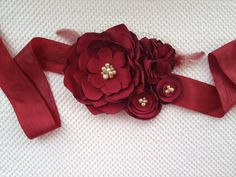 Bridal sash flower sash wedding dress sash  by HandcraftedAffairs, $125.00