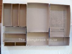 The Stonybrook House: Messy Desk Dilema {DIY Drawer Organizer} from cereal boxes Desk Drawer Organisation, School Desk Organization, Diy Drawer Dividers, Diy Drawer Organizer, Drawer Organisers, Organization Ideas, Drawer Ideas, Diy Drawers, Desk With Drawers