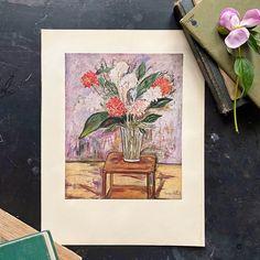 (1) Flower Still Life by Maurice Utrillo - 11x14 Abrams Art Print circa 19 – In The Vintage Kitchen Shop Vintage Art, Vintage World Maps, Painting Prints, Art Prints, New York Art, American Singers, Still Life, Kitchen Shop, Drawing Room