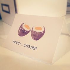 Easter treat! Potato Stamp Cards - handmade greeting cards. Available on Etsy and Facebook.