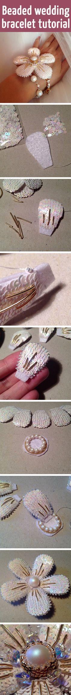 Beaded wedding bracelet tutorial