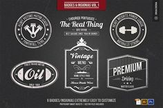 Badges and Insignia's Vol.1 by BMachina on @creativemarket