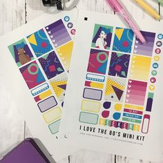 I Love the 80s Planner Stickers