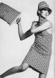 greatbliss:  hat, bag, dress by biba (1967)