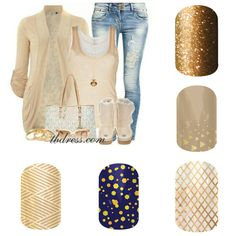 Love the gold Jamberry nail wraps!