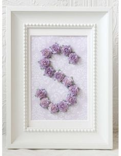 Lavender Rose Personalized Initial Frame...can do this for a fraction of the price