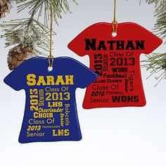 School Spirit Personalized T-Shirt Ornament.....gotta get this!  So cool!!!