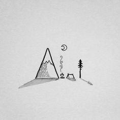 ideas for simple tree tattoo ideas ink Doodle Drawings, Doodle Art, Easy Drawings, Sick Drawings, Pinterest Tattoo Ideas, Simple Art, Painting & Drawing, Fire Drawing, Drawing Drawing