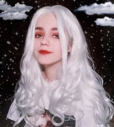 Gamay Hair White Synthetic Lace Front Wigs Luminous Synthetic Wigs Heat Resistant Lace Front Wig for Women Synthetic Lace Front Wigs, Synthetic Wigs, Pretty People, Beautiful People, Festival Make Up, Mode Kawaii, Uzzlang Girl, Wow Art, Grunge Hair