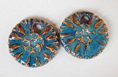 Earrings blue-silver By Mª Carmen Rodriguez ( Majoyoal ) https://www.facebook.com/groups/CeramicArtBeadMarket/