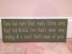 Definitely need to get this for a gift for mom!    Nana Wooden Wall Sign by SwirlyTwirlyDesigns on Etsy, $30.00