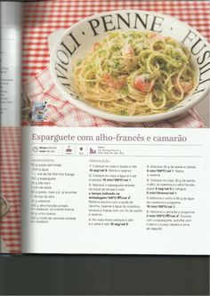 150 receitas as melhores de 2013 Penne, Cheesecake, Spaghetti, Food And Drink, Yummy Food, Healthy Recipes, Cooking, Ethnic Recipes, Illustrated Recipe