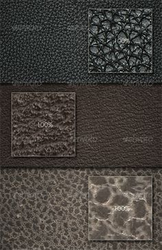 This set of leather textures comes with one .pat file with 5 patterns, ten PSD files in 2 resolutions, and 5 JPG files.