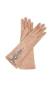 Crystal-embellished leather gloves - Valentino - Net-a-Porter Pale Dogwood, Caroline Reboux, Diy Accessoires, Vintage Gloves, Leather Gloves, Lace Gloves, Women's Gloves, Leather Jackets, Shoes