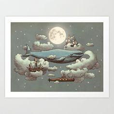 Ocean Meets Sky Art Print by Terry Fan - $18.00