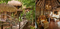The charming Arawak Huts and rustic walkways that make up the immersive and authentic experience at The Rainforest Spa, Sugar Beach, St Lucia. http://www.sugarbeachresidences.com/