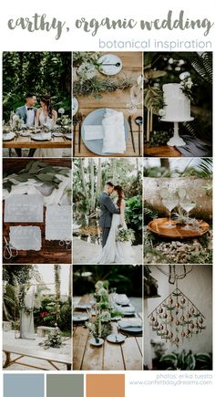We're huge fans of nature-inspired weddings, where the beauty of mother earth is the backdrop. Today's earthy, organic outdoor wedding inspiration by Erika Tuesta Photography and Primrose Floral… Destination Wedding Decor, Wedding Themes, Wedding Events, Wedding Planning, Wedding Decorations, Wedding Ideas, Wedding Bells, Wedding Cakes, Best Wedding Colors