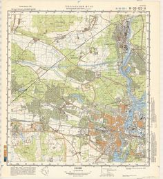 1938 Soviet topographic map of northeastern France Belgium and the