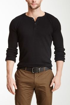 Billy Reid Thermal Henley Shirt