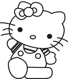 Hello Kitty Is Being Hold Doll Coloring Page