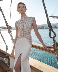 Let your love set sail in a gorgeous gown from Lian Rokman's latest collection! | WedLuxe Magazine | #WedLuxe #wedding #luxury #luxurywedding #fashion #weddinginspiration