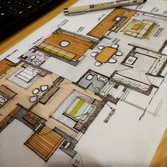 """ Penthouse (2Bedroom) "" #arquitetapage #sketch #sketching #Interiordesign… Interior Design Renderings, Drawing Interior, Interior Rendering, Interior Sketch, Plans Architecture, Architecture Design, Architecture Sketches, Marker, Interior Design Presentation"