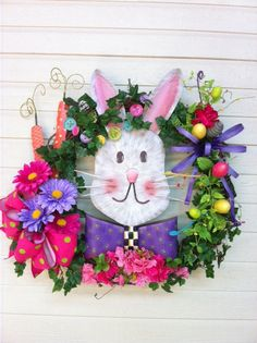 Fun, Colorful, and a touch of class! Wreath made form RTC Easter Products!!