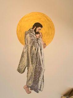 Catholic Art, Catholic Saints, Religious Art, St Josephs Day, Catholic Wallpaper, Spiritual Figures, Pictures Of Jesus Christ, Christian Wallpaper, Baby Drawing