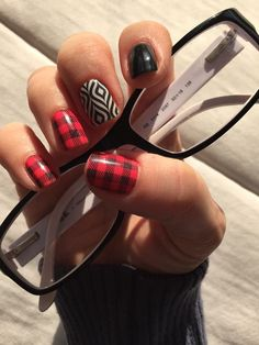 Jamberry Flannel Friday mixed with Lava Lamp and Black