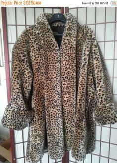 f93f6924cdd7 Now On Sale Stunning Leopard Cheetah Faux Fur by MartiniMermaid Leopard  Jacket