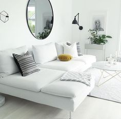 New Living Room Ikea Couch White Sofas 42 Ideas Living Room Decor Ikea, Living Room Furniture, Sofa Furniture, Apartment Decorating Livingroom, Living Room Decor Apartment, Minimalist Living Room, New Living Room, Apartment Decorating Living, Ikea Sofa