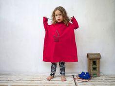 Girls Dress Oversized T Shirt Dress for Girls  by MotekShop