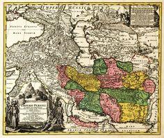 Print (Iran - (1724) - Panoramic Map)