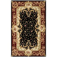 @Overstock - Inspired by traditional European styling, the Naples collection combines sophisticated designs, highest grade materail and expert craftsman to make this masterpiece rug.http://www.overstock.com/Home-Garden/Safavieh-Handmade-Garden-Scrolls-Black-New-Zealand-Wool-Rug/7300318/product.html?CID=214117 $54.89