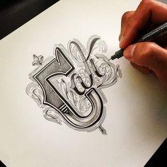 Hand Type Vol. 6 by Raul Alejandro, via Behance. Crazy!
