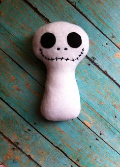 ITH J The Skeleton Inspired Softie  Squeaky  by BackYardStitchin