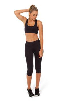 BM-PRO Highlighter Black Gym Crop › Black Milk Clothing