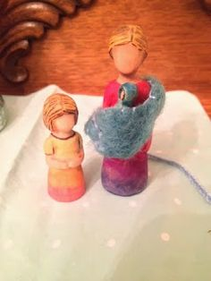 little acorns: Carving Peg People: Part II