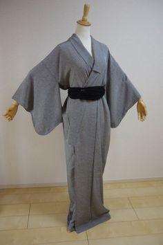 Kimono Dress Japan Geisya Japanese costume used Vintage Hitoe KDJM-B0035