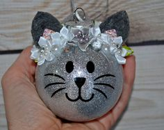 Personalized Christmas Ornament Cat Ornament Kitty ornament   Etsy