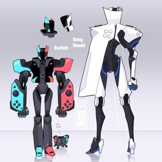 Game Character Design, Fantasy Character Design, Character Design Inspiration, Character Concept, Character Art, Arte Robot, Robot Art, Robot Concept Art, Game Concept Art