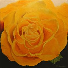 oil on canvas - yellow Rose Floral Artwork, Yellow Roses, Oil On Canvas, Gallery, Painting, Art Floral, Painted Canvas, Painting Art, Paintings