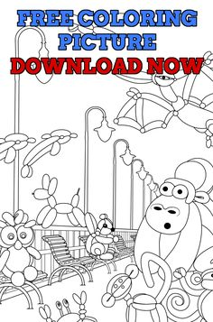 A Free Coloring Page To Share With You Delightful And Playful These Cute Inspirational Balloons Came From My Balloon Animals Adult Book