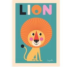 Ingela P Arrhenius - Lion Print