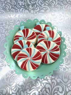 Candy Swirl Ornament Sugar Cookies by PSSweet on Etsy