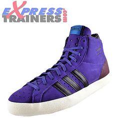 Adidas Originals Mens Basket Profi OG Suede Hi Top Trainers Purple AUTHENTIC